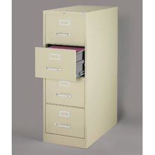 "26.5"" Deep Commercial 4 Drawer Legal Size High Side Vertical File Cabinet"