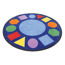 Geometric Shapes Circle Carpet