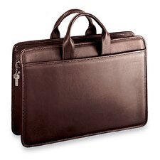 Platinum Single Gusset Zip Top Briefcase