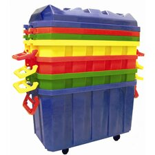 4 Pack of 18 Gallon Stor-N-Roll Toy Trunks with Casters