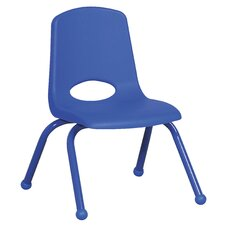 "14"" Plastic Stack Chair with Matching Painted Legs"