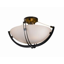 Crossbar Fusion 3 Light Semi Flush Mount