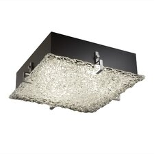 Veneto Luce Clips 2 Light Square Flush Mount