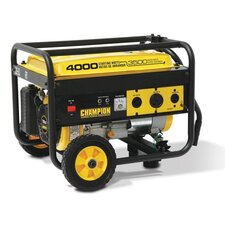 3,500 Watt Portable Gasoline Generator with Wheel Kit
