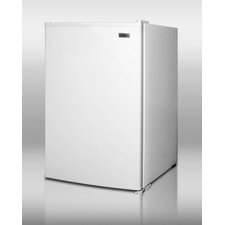 Freezer with Open Shelves in White