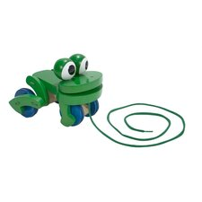 Frolicking Frog Wooden Pull Toy