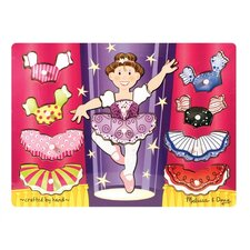 Ballerina Dress-Up Mix N' Match Peg Puzzle