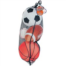 Plush Sports Balls in a Mesh Bag