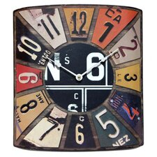 The Peddler License Plate Wall Clock