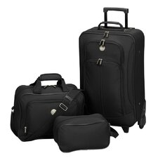 EuroValue II 3 Piece Rolling Luggage Set