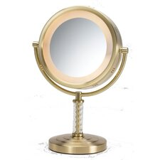 Dual Sided 5x Halo Lighted Vanity Mirror