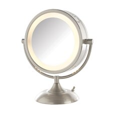 Dual Sided 8x Halo Lighted Vanity Mirror