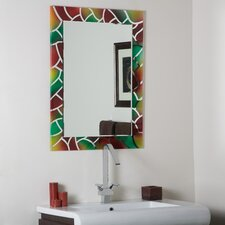 Abstract Frameless Mirror