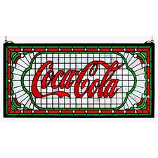 Victorian Tiffany Coca-Cola Web Stained Glass Window
