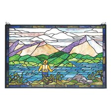 Recreation Fly Fishing Stained Glass Window