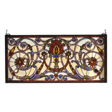 Victorian Floral Spiral Victorian Stained Glass Window