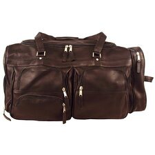 "Heritage 22"" Deluxe Leather Travel Duffel"