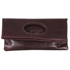 Molly Foldover Open Handle Clutch