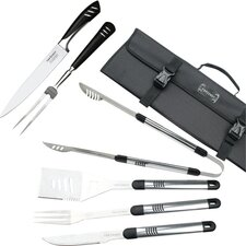 Stainless Steel 7 Piece BBQ and Carving Set
