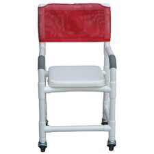 Standard Deluxe Shower Chair with Soft Seat Complete and Optional Accessories