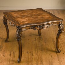 Square Game Table in Medium Brown