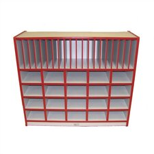 Cubbie Unit With Vertical Letter Slots