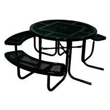3-Seat ADA Round Picnic Table with Perforated Pattern