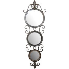 Three Circle Round Wall Mirror