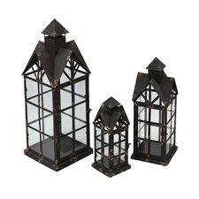 3 Piece Iron Lantern Set