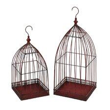 2 Piece Iron Lantern Set (Set of 2)