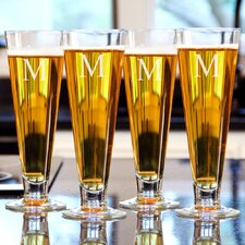 Personalized Classic Pilsner Glass (Set of 4)