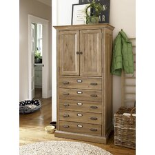 Down Home Kitchen Organizer Cabinet in Distressed Oatmeal Finish