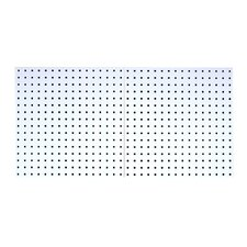 LocBoard (2) 24 In. W x 24 In. H x 9/16 In. D White Epoxy, 18 Gauge Steel Square Hole Pegboards
