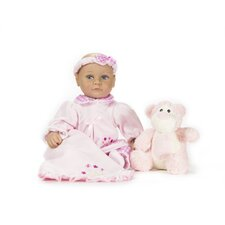 "13"" Baby Wendi Doll with Bed Time Bear"