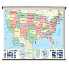 Beginner Wall Map - U.S.