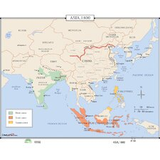 World History Wall Maps - Asia 1800