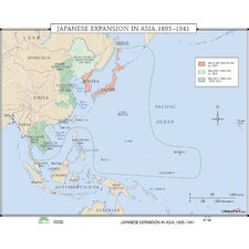 World History Wall Maps - Japanese Expansion in Asia