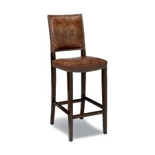 Green Valley Leather Barstool