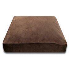 Rectangle Bed with Easy-Wash Cover in Chocolate Suede