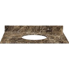 "31"" Marble Vanity Top for Undermount Sink with Backsplash"
