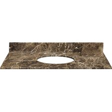 Stone Top Undermount Bathroom Sink with Backsplash