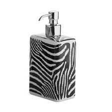 Safari Soap Dispenser in Black and White Zebra Print