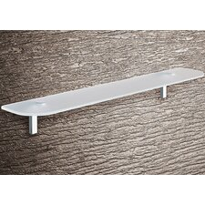 Karma Glass Shelf with Chrome Hardware
