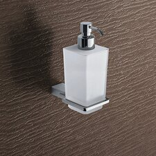 Kansas Wall Mounted Matte Glass Soap Dispenser in Chrome