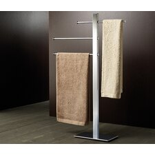 Bridge Sliding Three Tier Towel Stand in Chrome