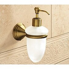 Romance Frosted Glass Soap Dispenser
