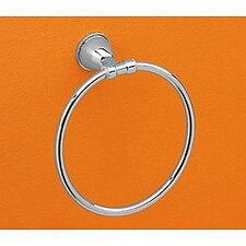Genziana Towel Ring in Chrome