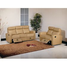 Slope Dual Reclining Leather Living Room Collection