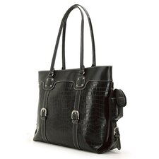 "16"" Signature Tote in Black"