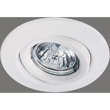 Quality Line 1 x 50W Swiveling Downlight in White